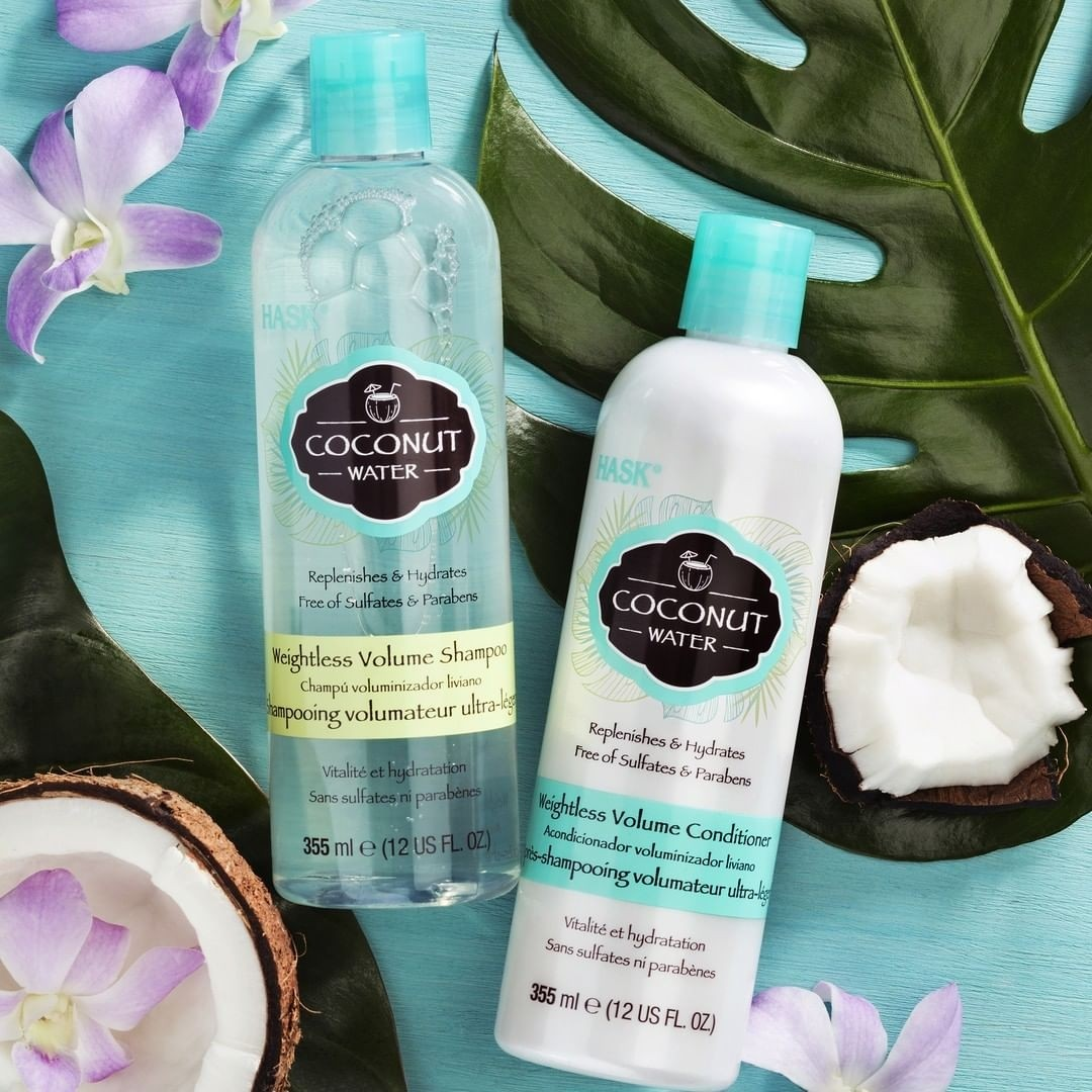 Buy Hask Coconut Water Weightless Volume Shampoo 355 Ml Golden