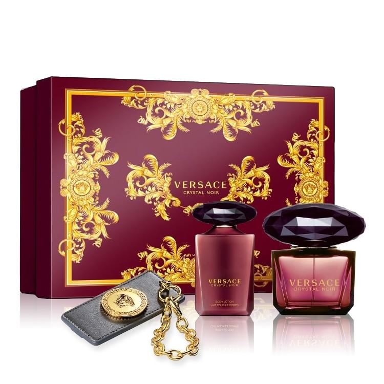Buy Versace Crystal Noir Gift Set Golden Scent Golden Scent