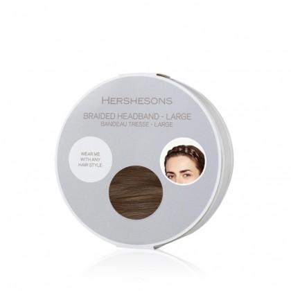 Hershesons Braided Headband Large - Mocha Brown SE
