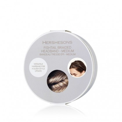 Hershesons Fishtail Braided Headband Medium - Copper Brown SE