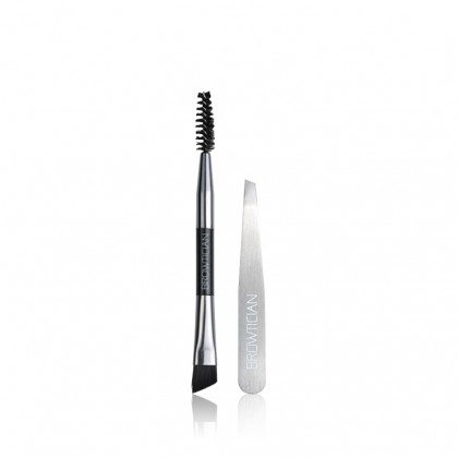 Browtician Brow The Stylist - Brow System Shaping Brush & Compact Slant